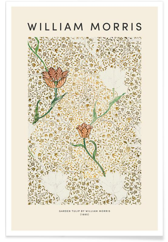 Japanese Inspired, William Morris - Garden Tulip Poster