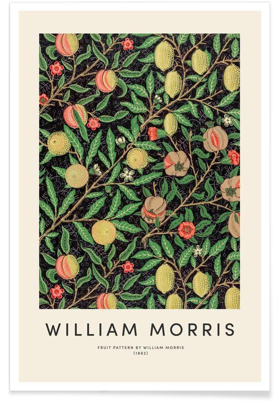 Japans geïnspireerd, William Morris, William Morris - Fruit poster