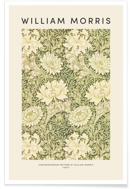 D'inspiration japonaise, William Morris - Chrysanthemum affiche