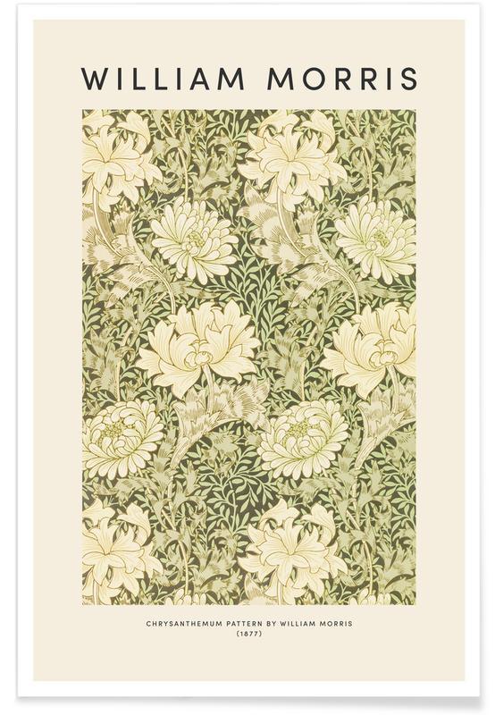 Japanisch inspiriert, William Morris - Chrysanthemum -Poster