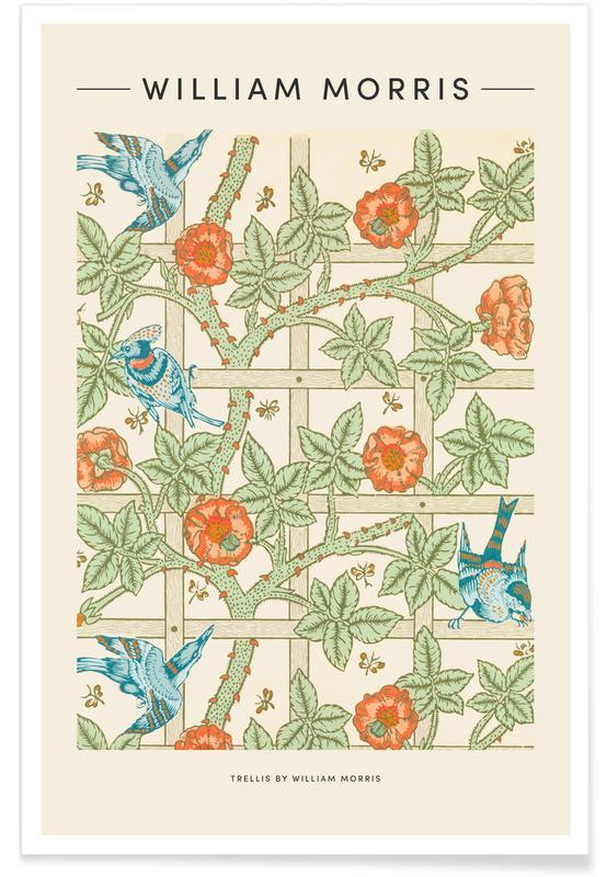 Japansk vintage, William Morris - Trellis Plakat