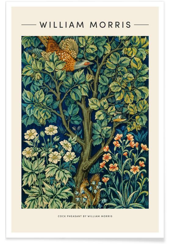 D'inspiration japonaise, William Morris - Cock Pheasant affiche