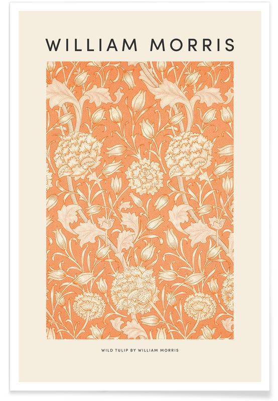 Japansk vintage, William Morris - Wild Tulip Plakat