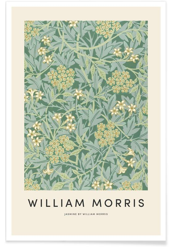 Japanese Inspired, William Morris - Jasmine Poster