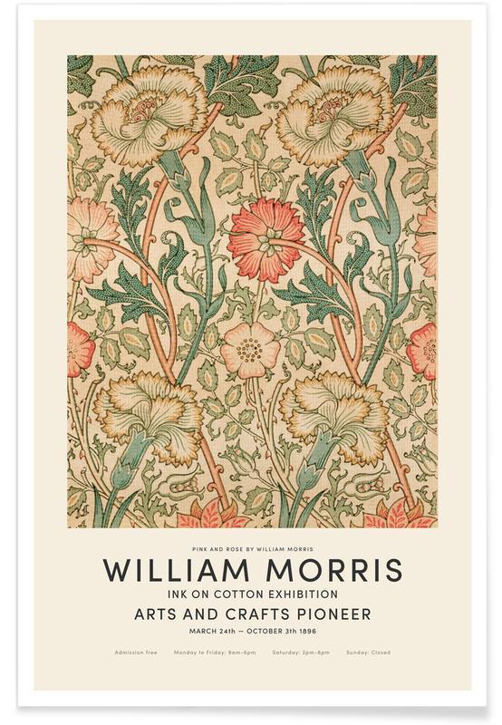 D'inspiration japonaise, William Morris - Pink And Rose Exhibition affiche