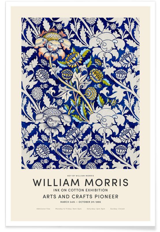Vintage japonés, William Morris - Wey Exhibition póster