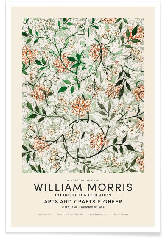 Japansk vintage, William Morris - Jasmine Exhibition Plakat