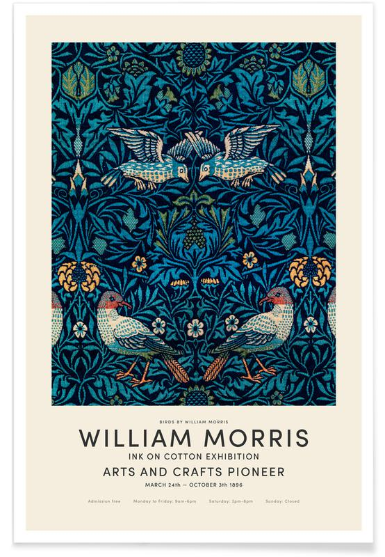 D'inspiration japonaise, William Morris - Birds Exhibition affiche