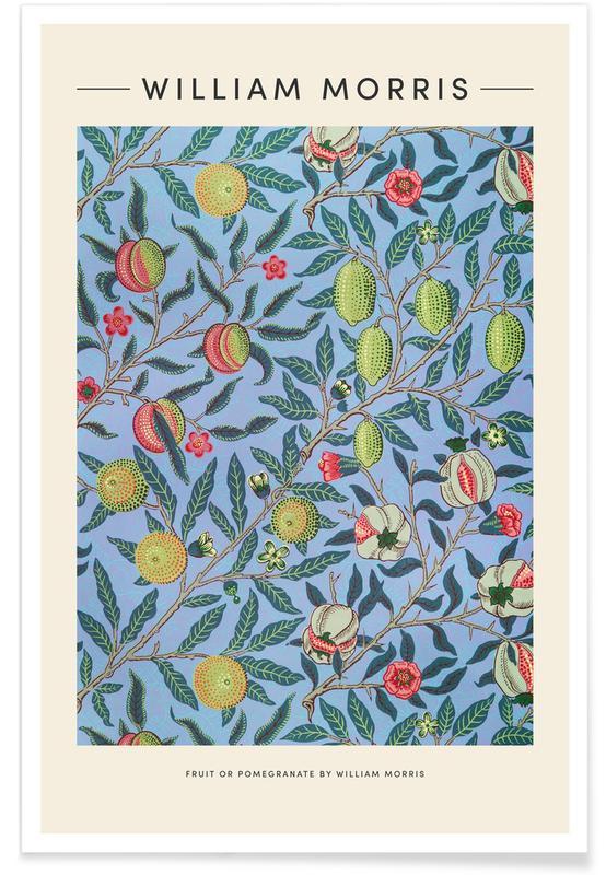 Japanese Inspired, William Morris - Fruit Or Pomegranate Poster