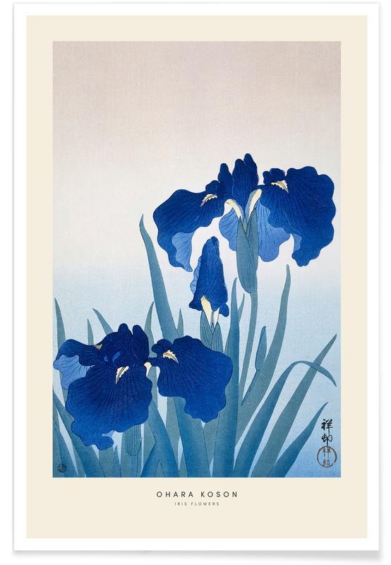 D'inspiration japonaise, Koson - Iris Flowers affiche
