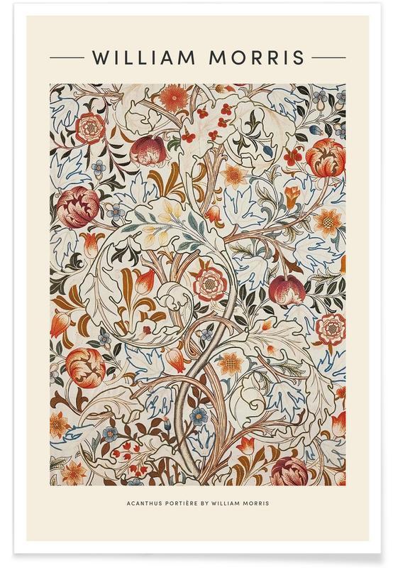 D'inspiration japonaise, William Morris - Acanthus affiche