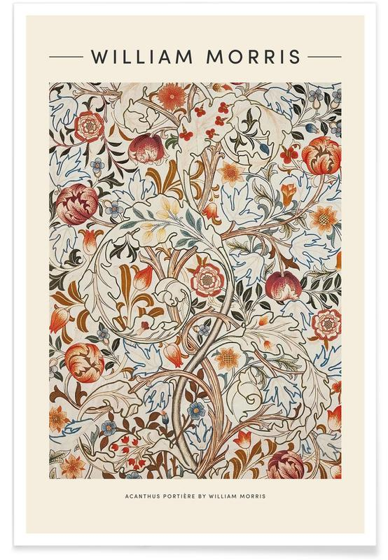 Japansk vintage, William Morris - Acanthus Plakat
