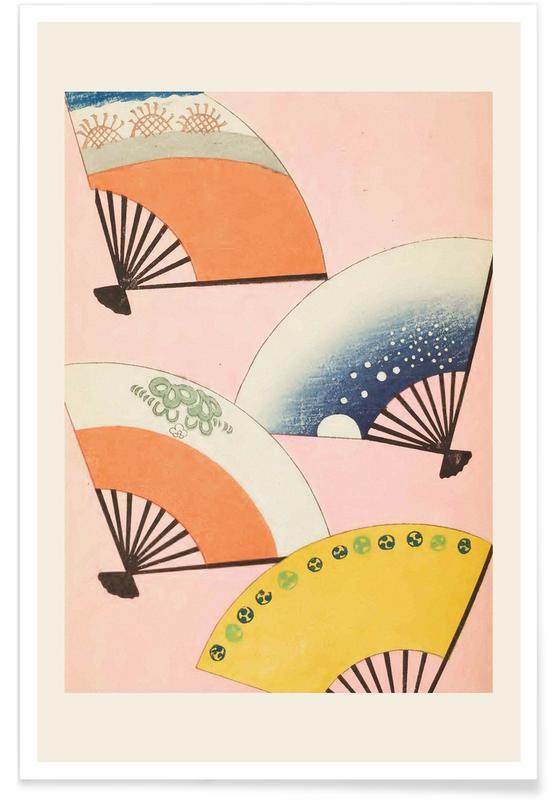 Vintage Reise, Japanisch inspiriert, Shin-Bijutsukai - Fans -Poster