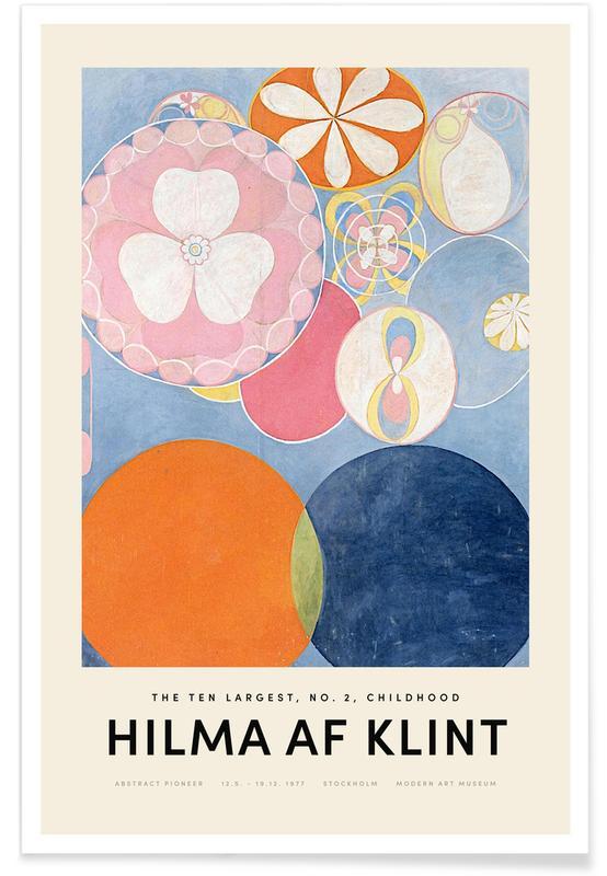 Hilma af Klint, Childhood, No. 2 -Poster