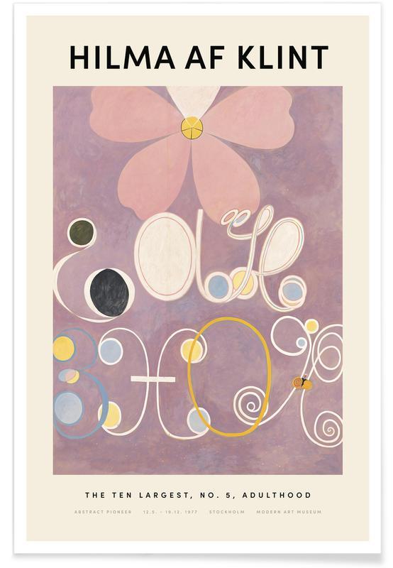 Hilma af Klint, Hilma af Klint - The Ten Largest, No. 5 poster