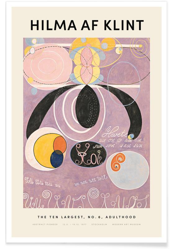 Hilma af Klint, The Ten Largest, No. 6 affiche