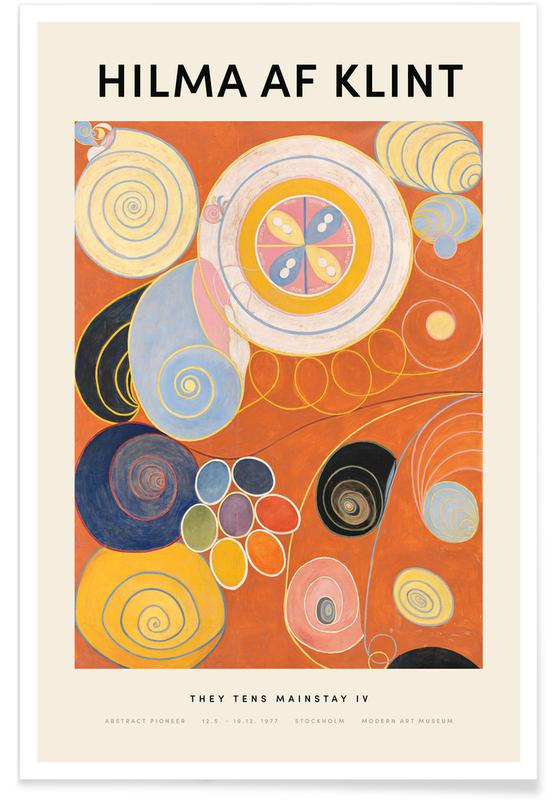 Hilma af Klint, They Tens Mainstay IV Poster