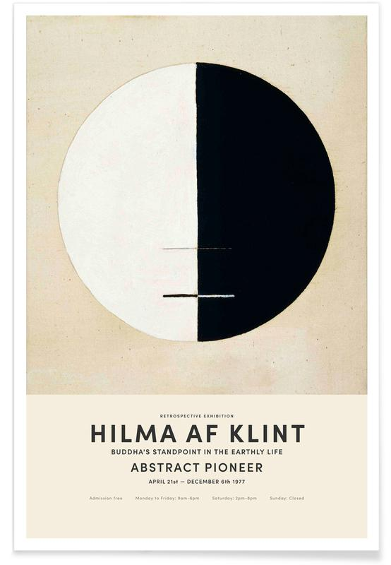 Hilma af Klint, Black & White, Buddha's Standpoint in the Earthly Life Poster
