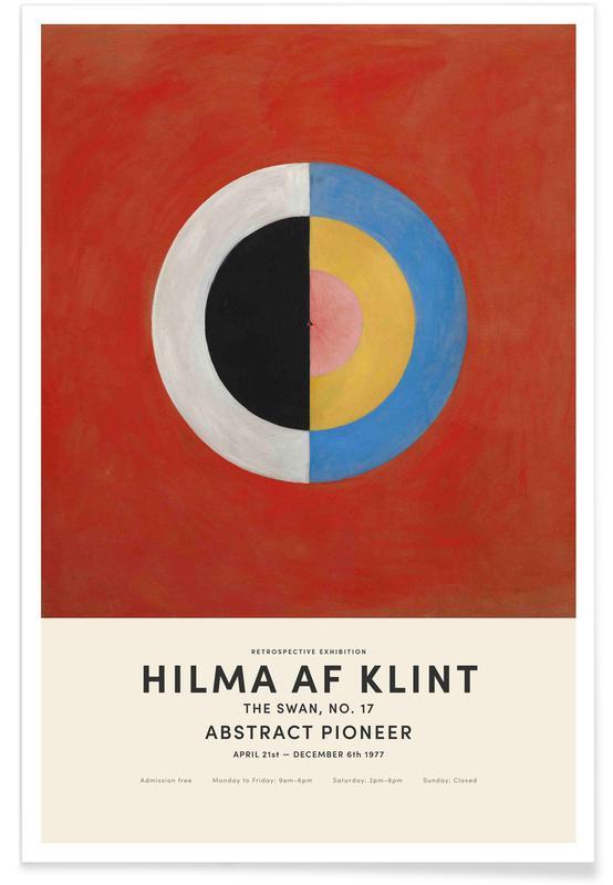 Hilma af Klint, The Swan, No. 17 affiche