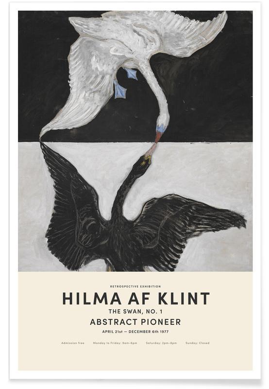 Swans, Hilma af Klint, Black & White, The Swan, No. 1 Poster