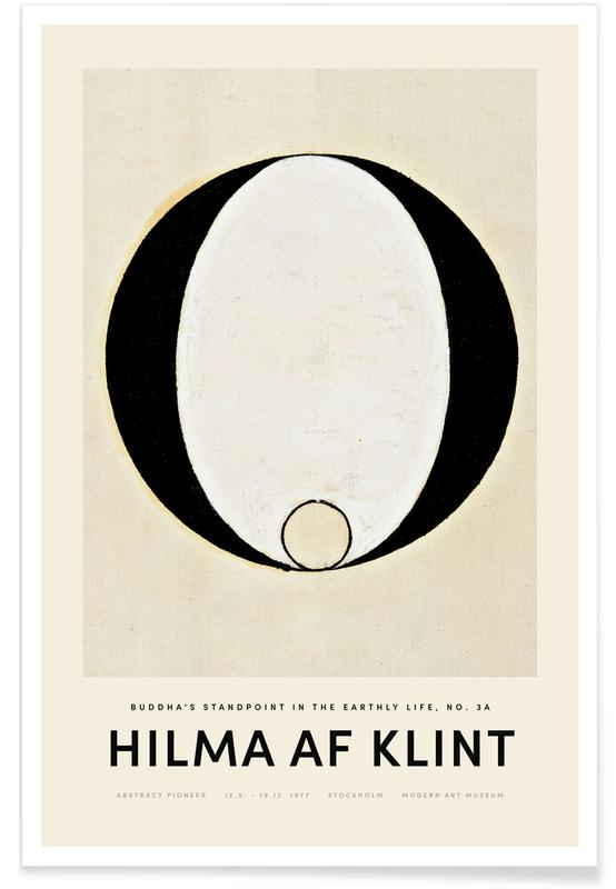 Hilma af Klint, Noir & blanc, Buddha's Standpoint in the Earthly Life 3A affiche