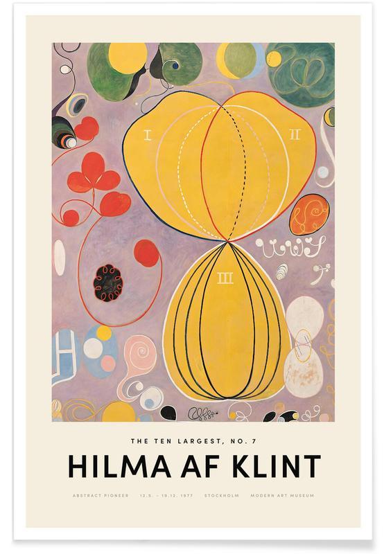 Hilma af Klint, The Ten Largest, No. 7 affiche