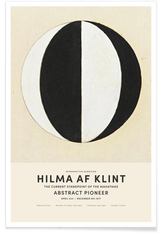 Hilma af Klint, Noir & blanc, The Current Standpoint of the Mahatmas affiche