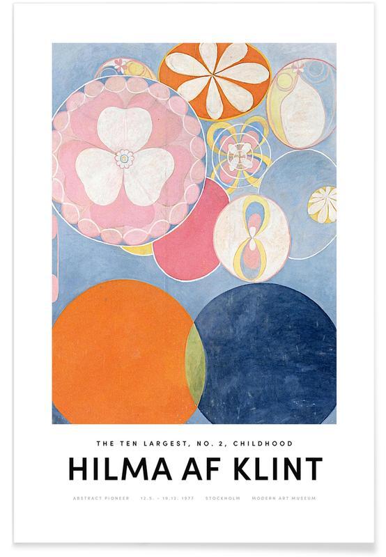 Hilma af Klint, Childhood, No. 2 II poster