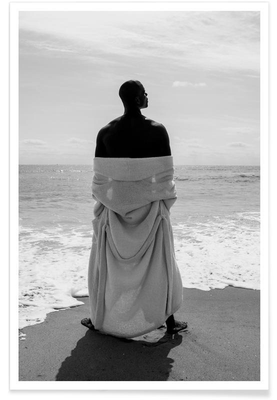 Photos de mode, Portraits, White Robe affiche