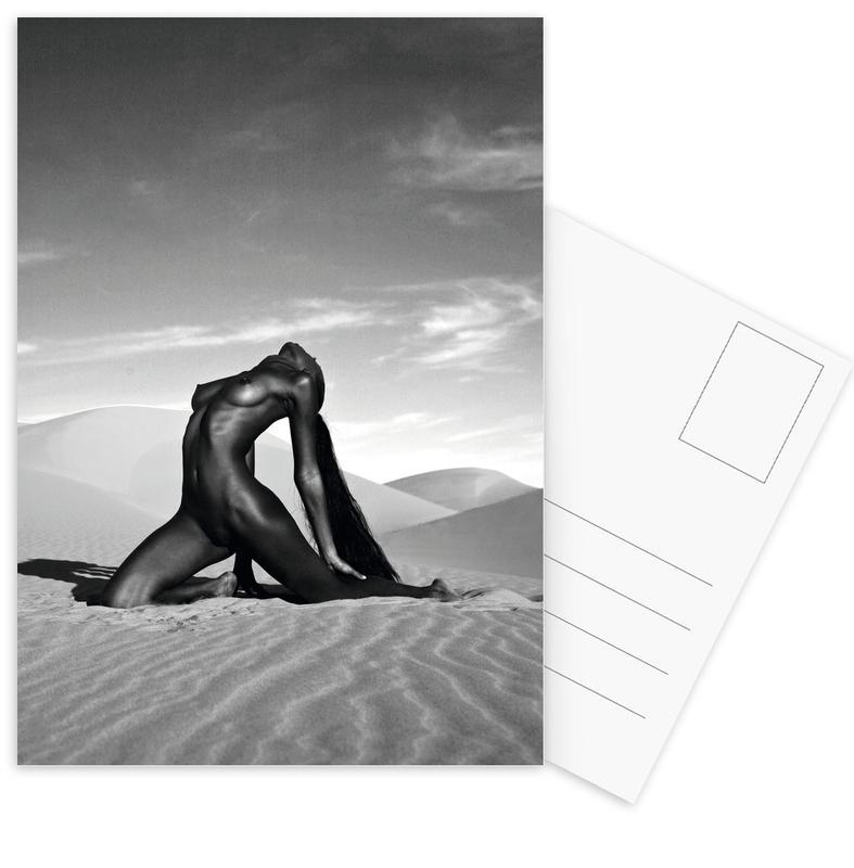 Schwarz & Weiß, Modefotografie, Akte, Pyramid -Postkartenset