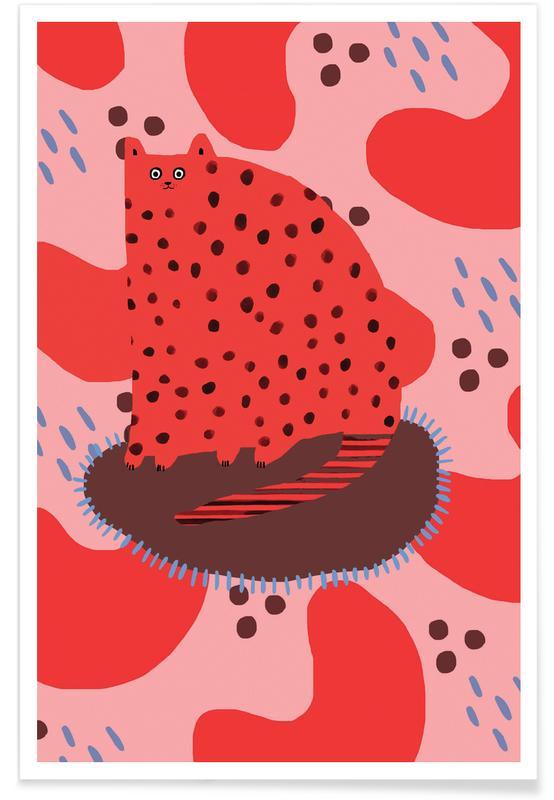Luipaarden, Alfabet en letters, Katten, Red Cat poster
