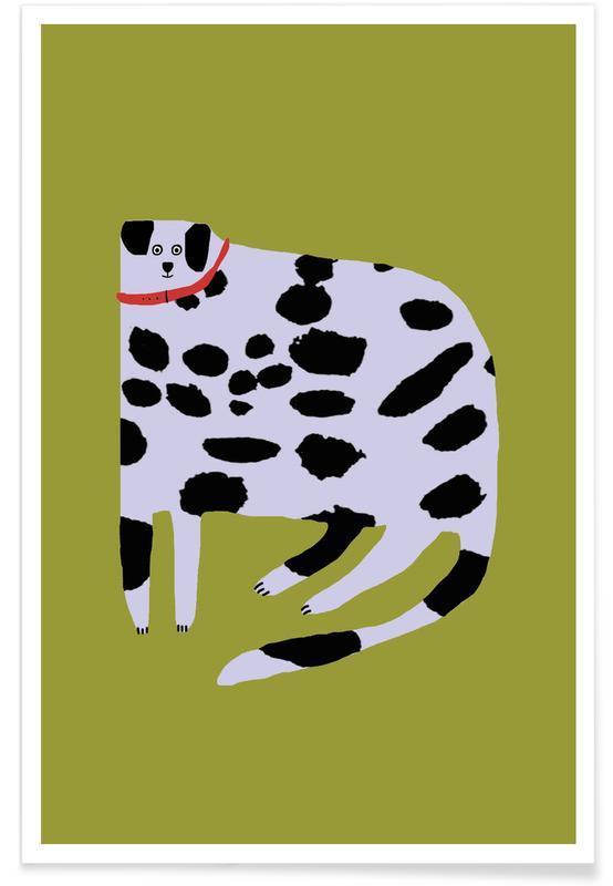 Alphabet et lettres, Chiens, Léopards, Dalmatian affiche