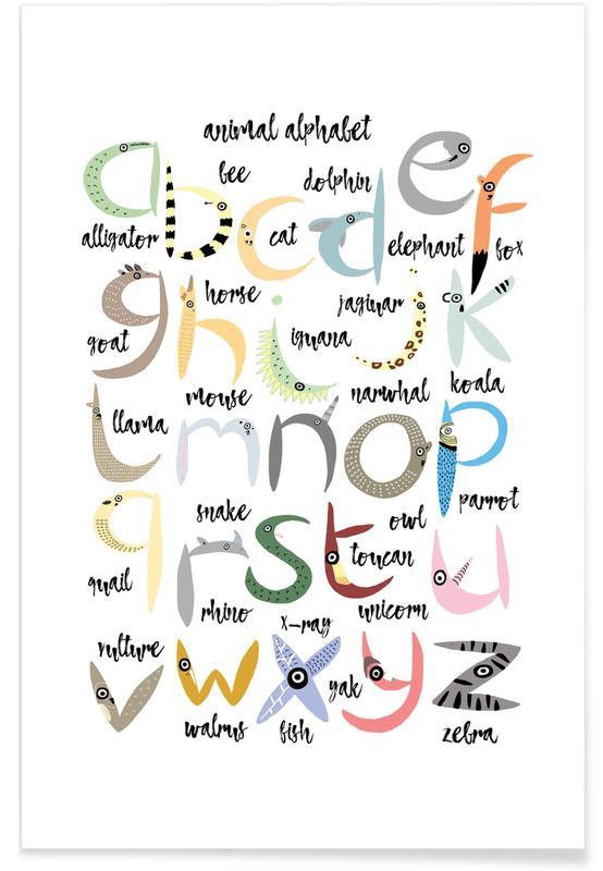 Alphabet & Buchstaben, Animal Alphabet -Poster
