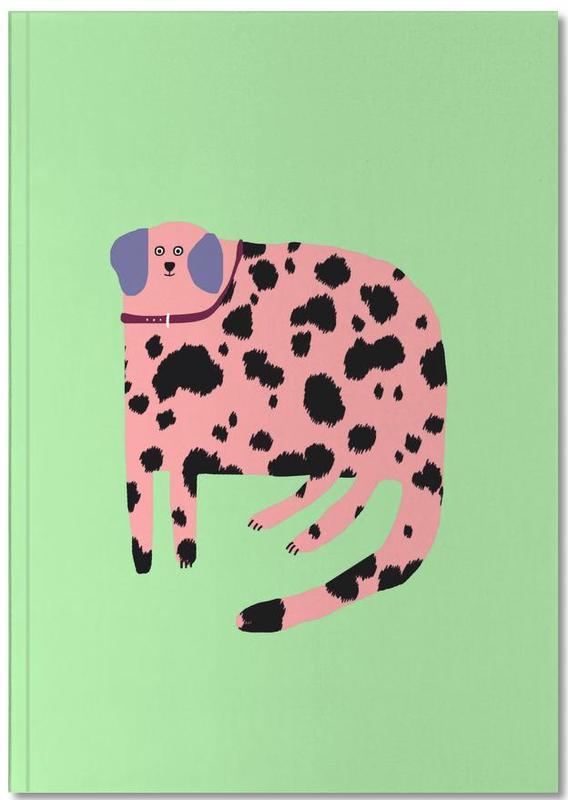 Honden, Alfabet en letters, Luipaarden, Pink Dalmatian Notebook