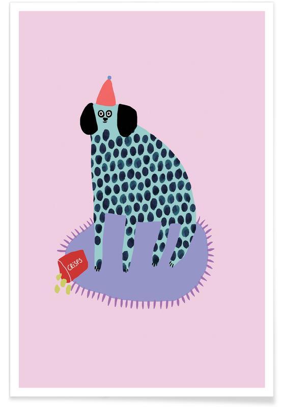 Leopards, Dogs, Alphabet & Letters, Partydog Poster