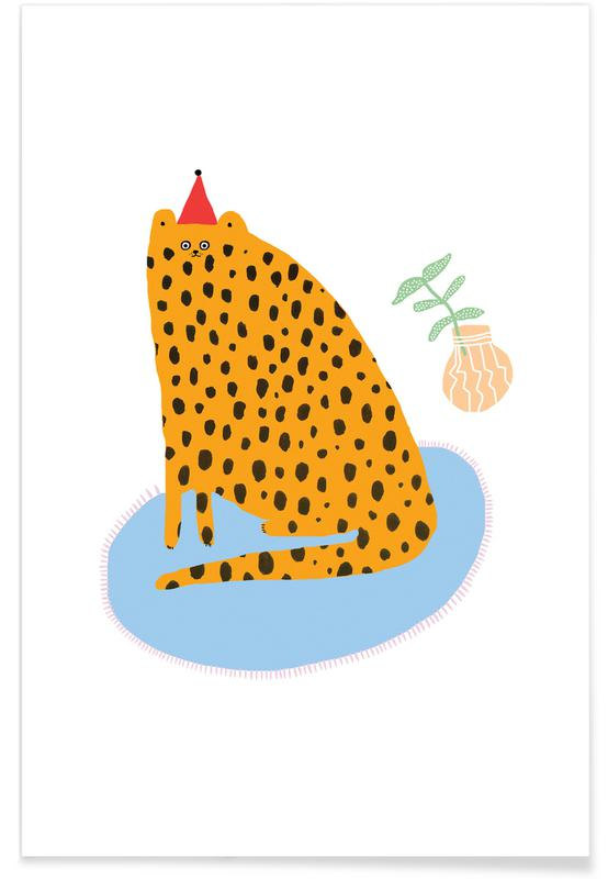 Alphabet et lettres, Léopards, Chats, Partycat affiche