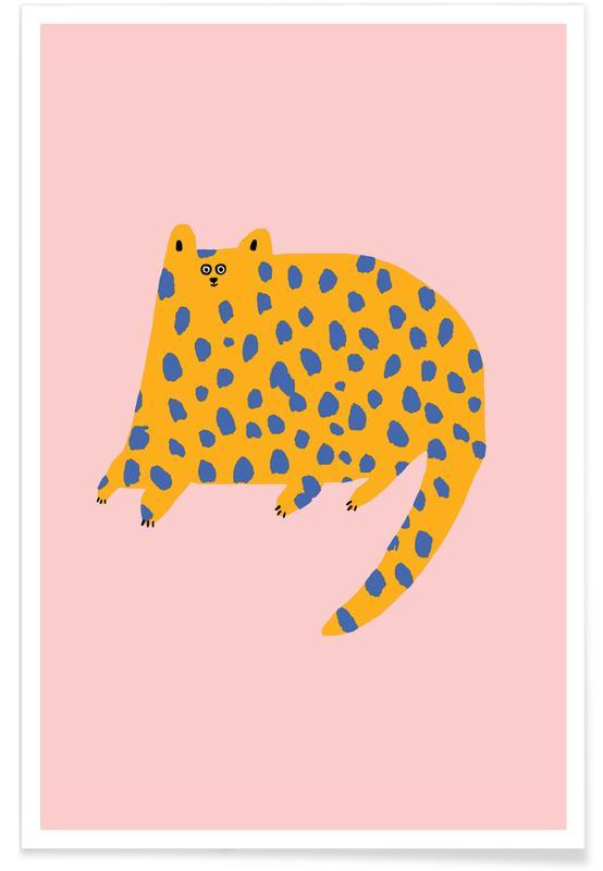 Alphabet et lettres, Léopards, Chats, Dotty Cat affiche