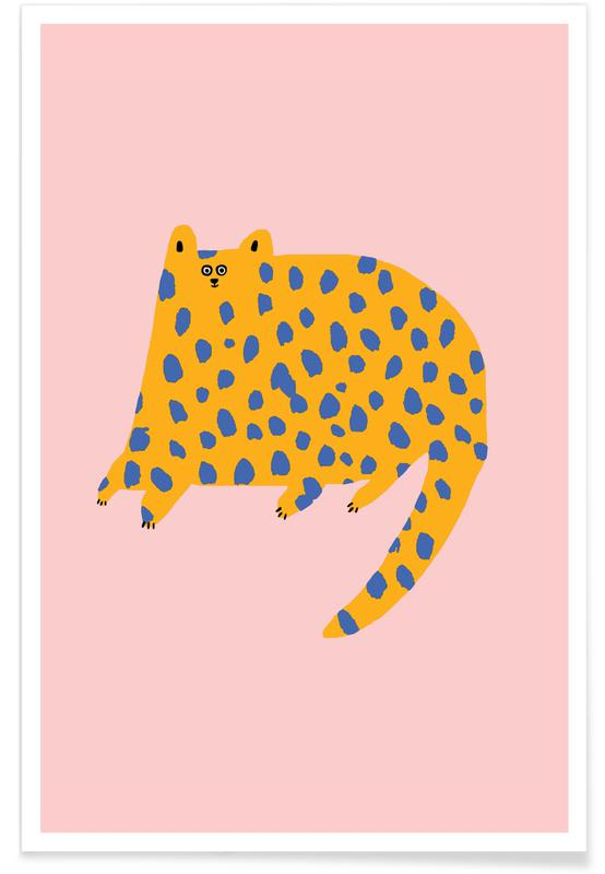 Leopards, Cats, Alphabet & Letters, Dotty Cat Poster