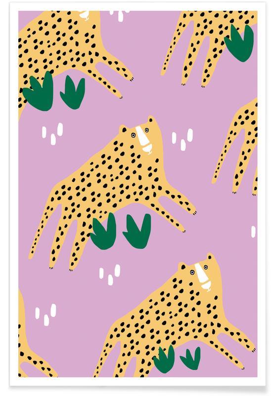 Luipaarden, Alfabet en letters, Leopards poster