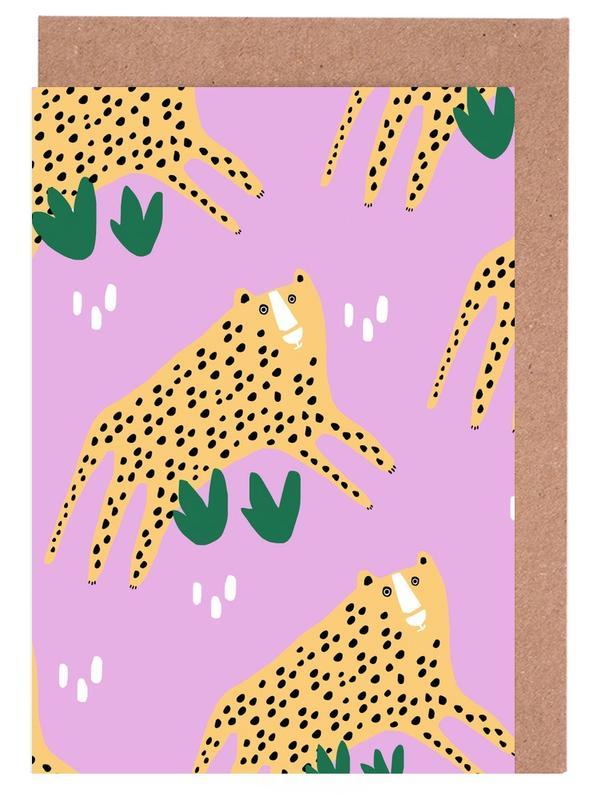 Alphabet & Buchstaben, Leoparden, Leopards -Grußkarten-Set