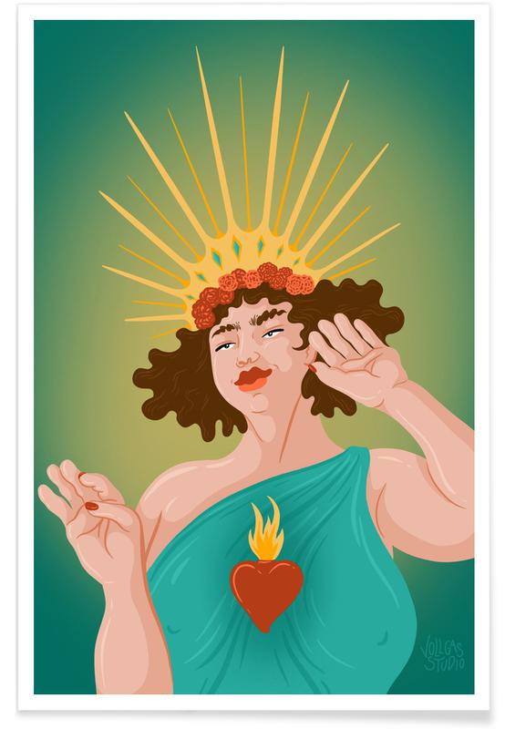 Porträts, Paare, Queen Of Hearts -Poster