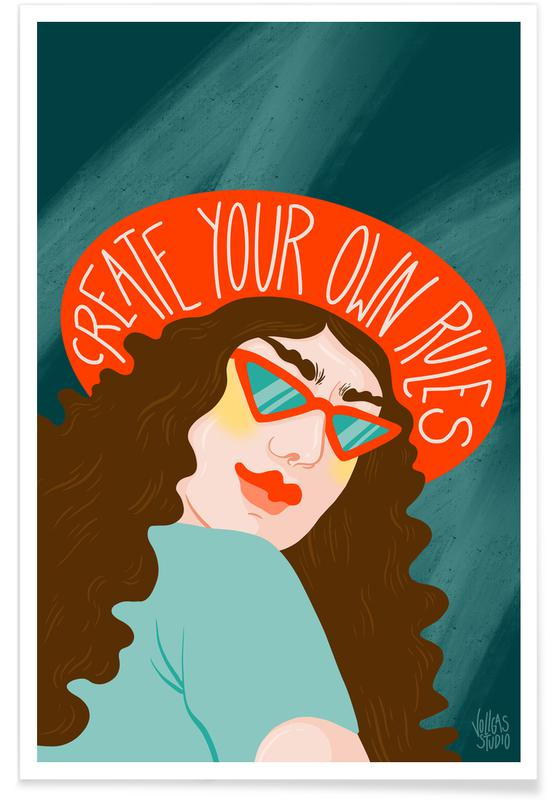 Porträts, Paare, Create Your Own Rules -Poster