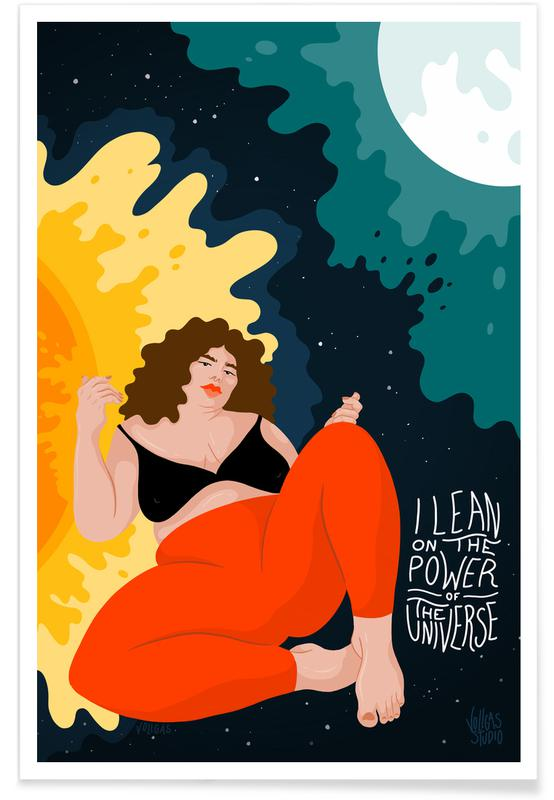 Portraits, Couples, Lean On The Universe Poster