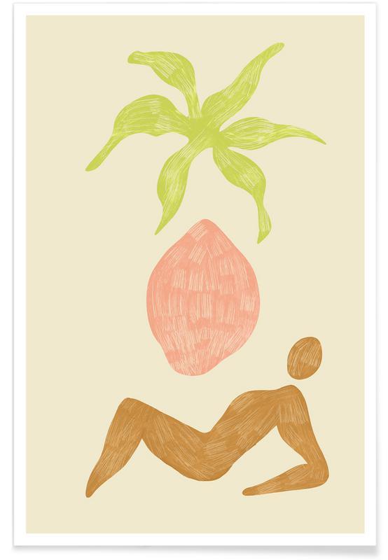 Stranden, Dans, Summer Abstract poster