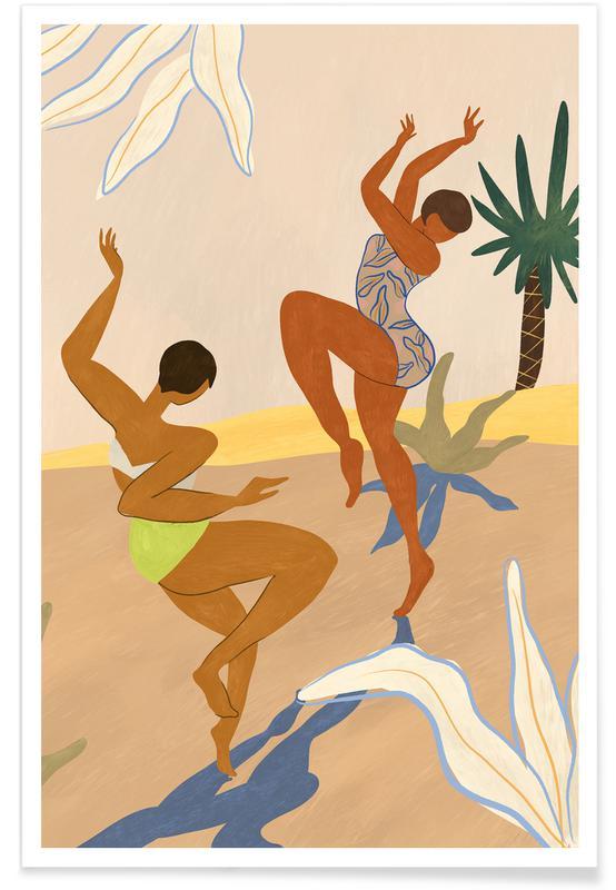 Danse, Plages, Summer Dance affiche