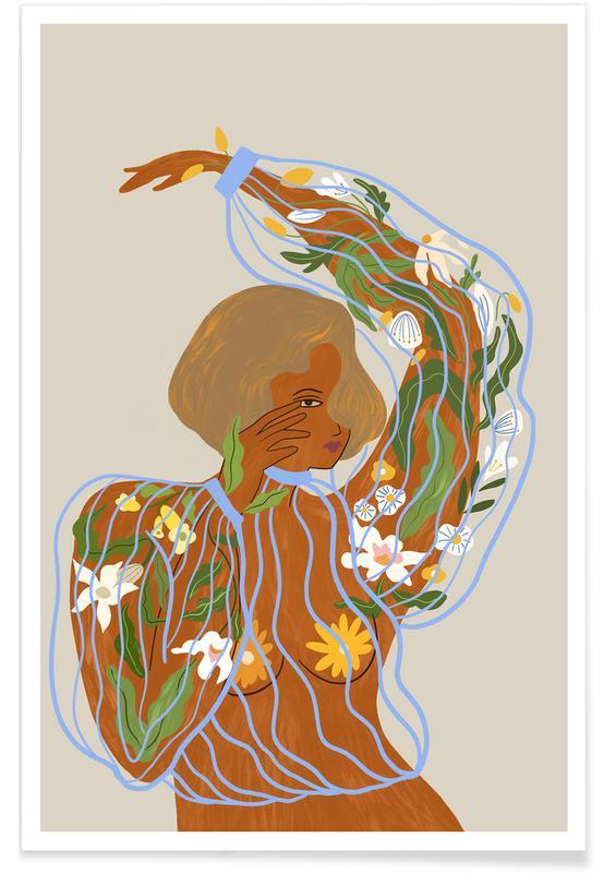 Tanzen, Strände, Nurture & Grow -Poster
