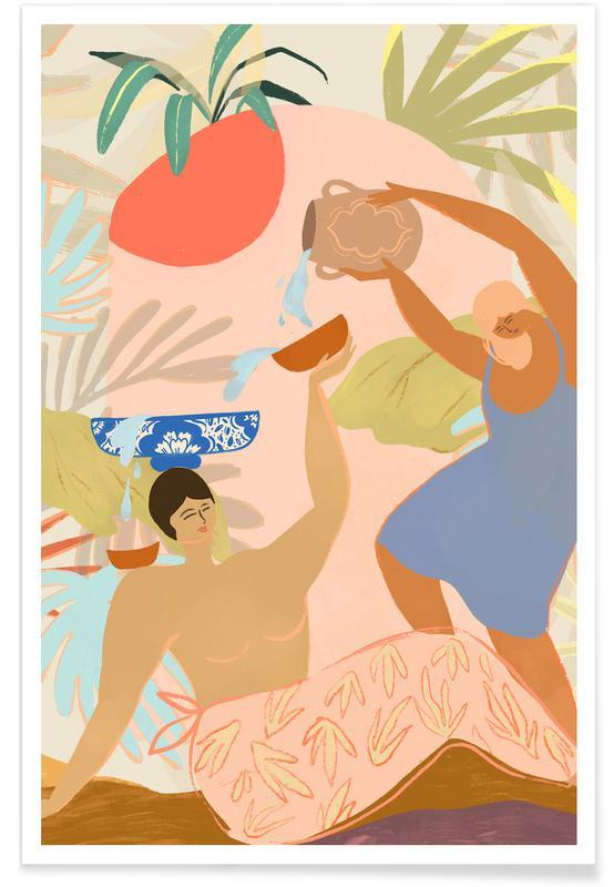 Stranden, Dans, Water Play poster