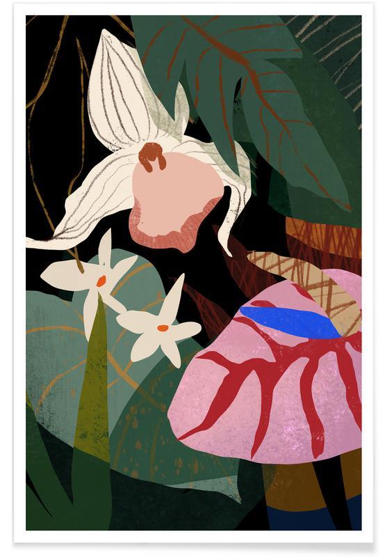 Danse, Plages, Orchid affiche