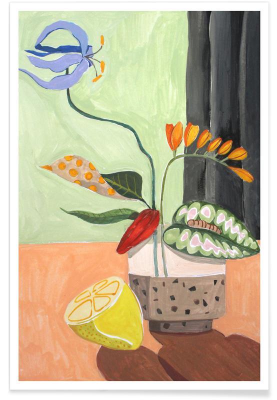 Tanzen, Strände, Ikebana -Poster