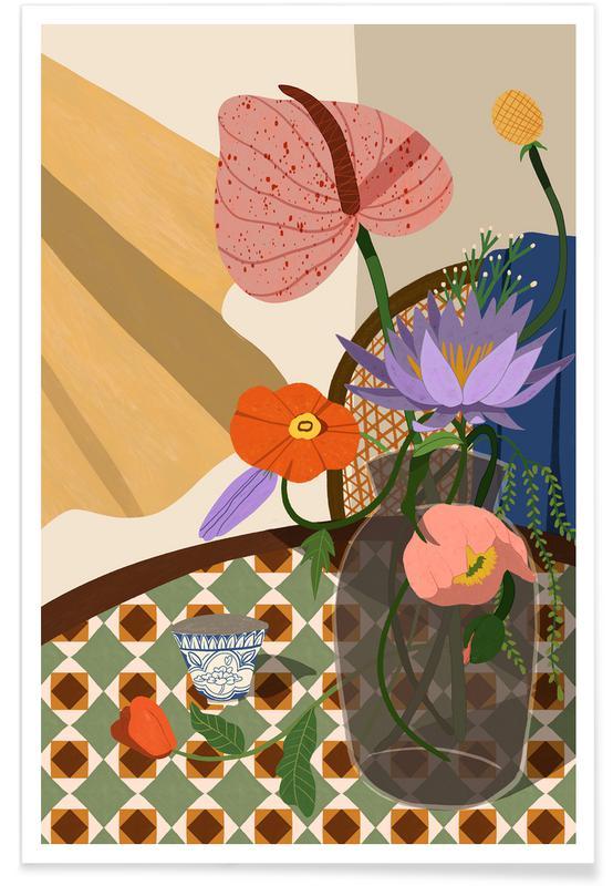 Danse, Plages, Flower Arrangment affiche